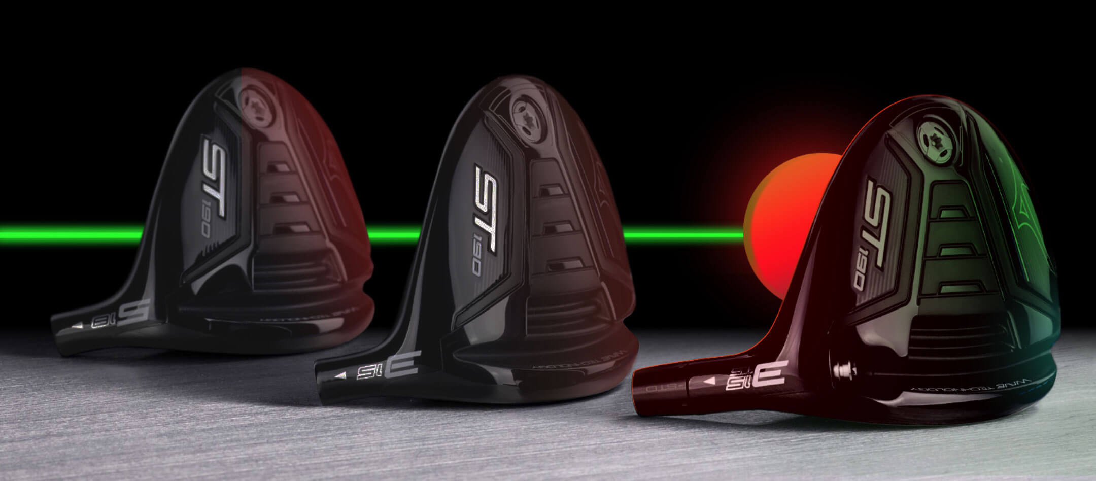3 of the variations of the ST190 Fairway Wood with a Mizuno Ball