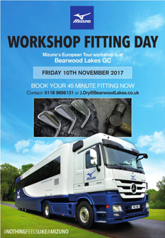 Workshop fitting days. Friday 10th November 2017