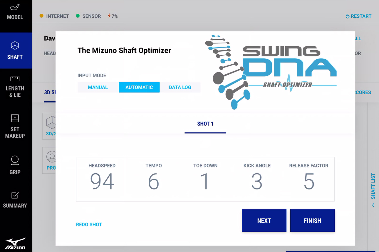 2019 Shaft Optimizer 3D now at Fitting Centres - Mizuno Golf Europe
